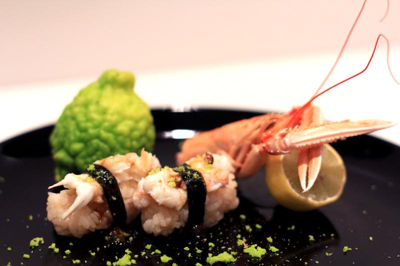 Sushi Langoustine au zest de combava
